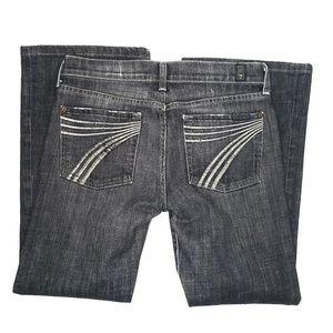 7 For All Mankind Dojo Black/Charcoal Jeans, Sz 28